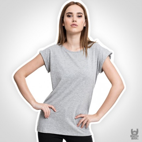 Build Your Brand Ladies Extended Shoulder Tee