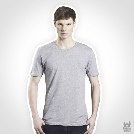 Earth Positive Mens Organic Band Slim-Fit T-Shirt - aus 100% Bio-Baumwolle