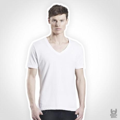 Earth Positive Mens Organic V-Neck Band T-Shirt