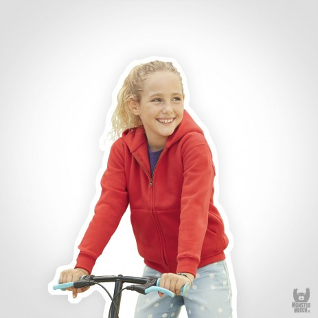 Fruit of the Loom Kids Zip Through Band Hooded Sweat-Jacket