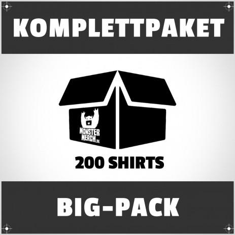 Big-Pack: 200 bedruckte Bandshirts