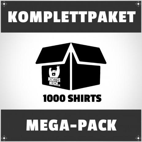 Mega-Pack: 1000 bedruckte Bandshirts