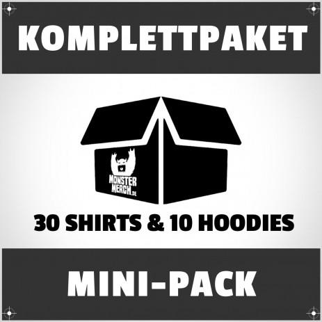 Mini-Pack: 30 bedruckte Bandshirts & Hoodies