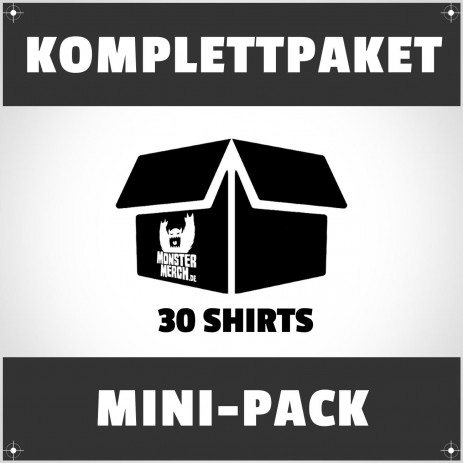 Mini-Pack: 30 bedruckte Bandshirts
