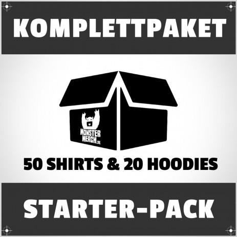 Starter-Pack: 50 bedruckte Bandshirts & Hoodies