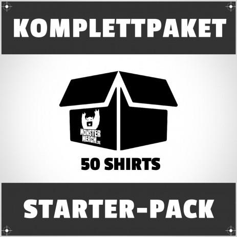 Starter-Pack: 50 bedruckte Bandshirts