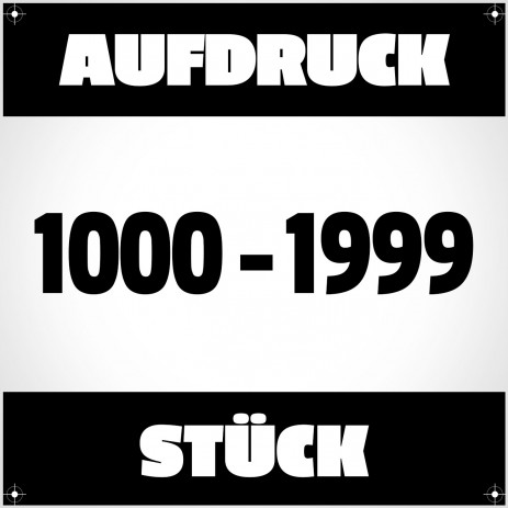 Textildruck von 1000 bis 1999 Stück