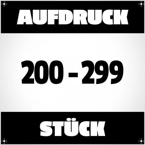 Textildruck von 200 bis 299 Stück
