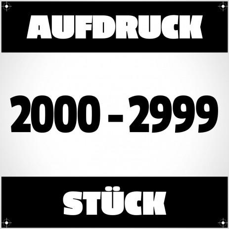 Textildruck von 2000 bis 2999 Stück
