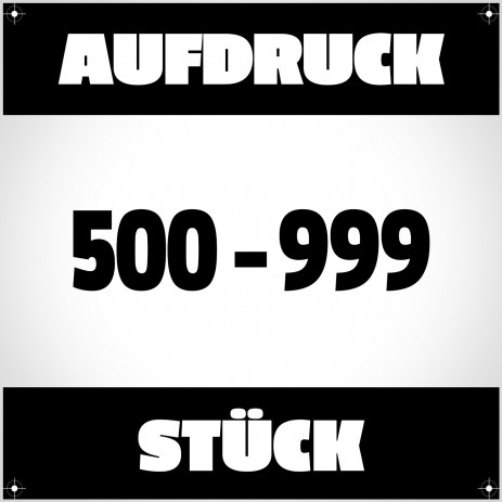 Textildruck von 500 bis 999 Stück