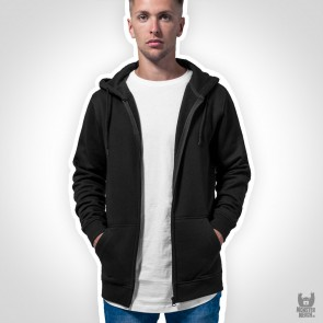 Build Your Brand Heavy Zip Hoody