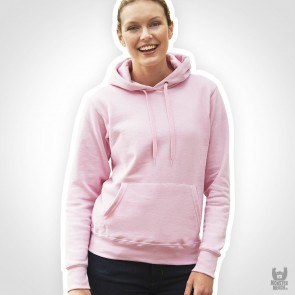 Fruit of the Loom Ladies-Fit Band-Hoodie