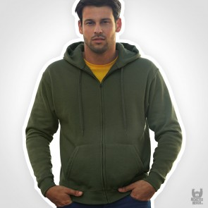 Fruit of the Loom Zip Trough Band Hooded Sweat-Jacket