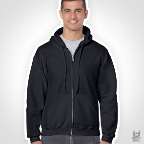 Gildan Heavy Blend Adult Full Zip Band Hooded Sweatshirt
