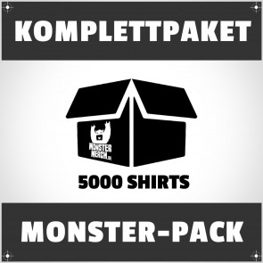 Monster-Pack: 5000 bedruckte Bandshirts