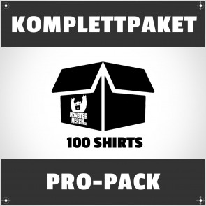Pro-Pack: 100 bedruckte Bandshirts