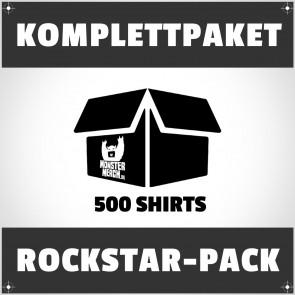 Rockstar-Pack: 500 bedruckte Bandshirts