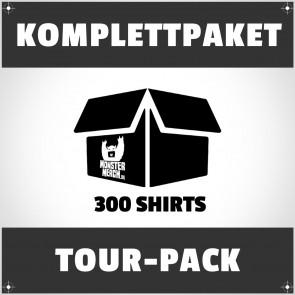 Tour-Pack: 300 bedruckte Bandshirts