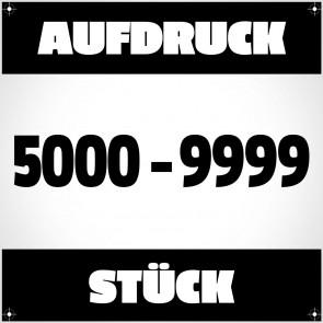 Textildruck von 5000 bis 9999 Stück